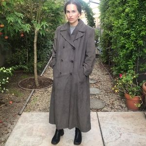 Vintage Newport Harbor Gray Trench Coat